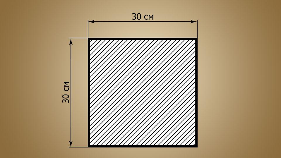 Чертеж квадрата