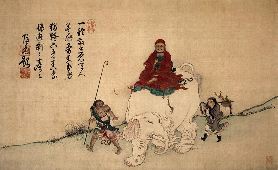Бодхидхарма на слоне