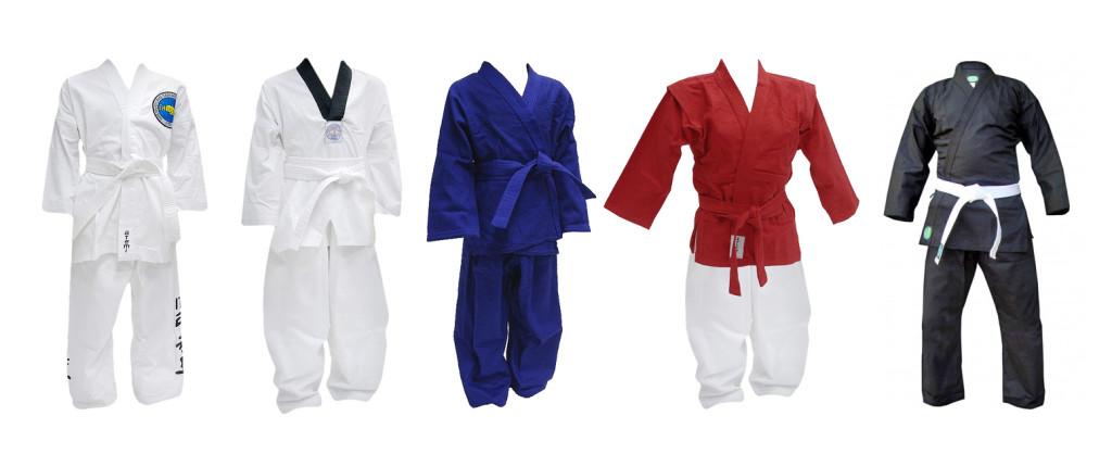 Различные цвета кимоно