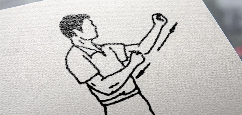 Удар Вин Чунь изгиб суставов